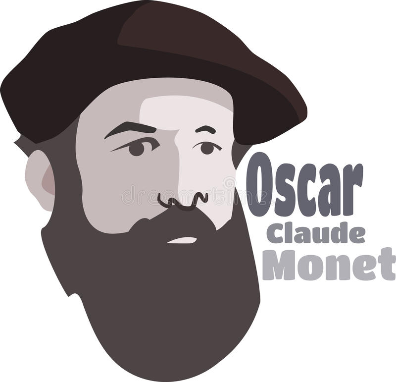 Claude Monet. Famous impressionist french painter royalty free stock photography