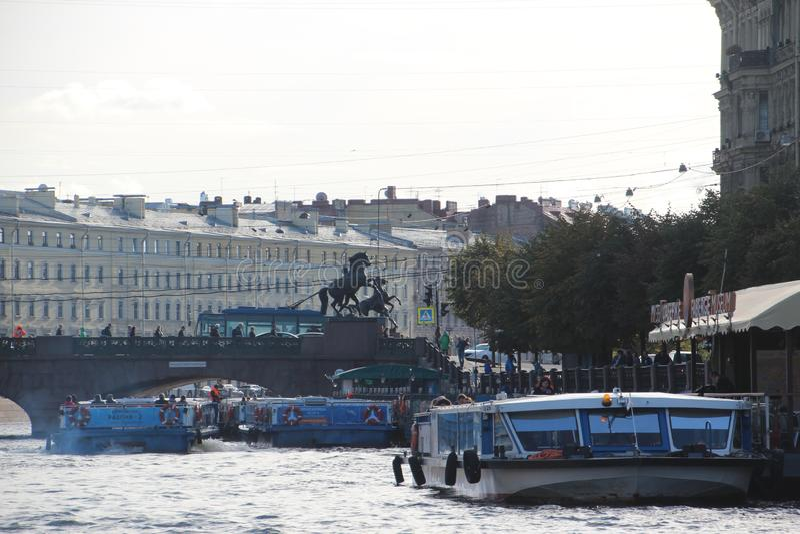 Claudes Pferde Heilige Petersburg Russland stockfotos