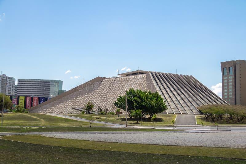 Claudio Santoro Krajowy teatr - Brasilia, Distrito Federacyjny, Brazylia zdjęcia stock