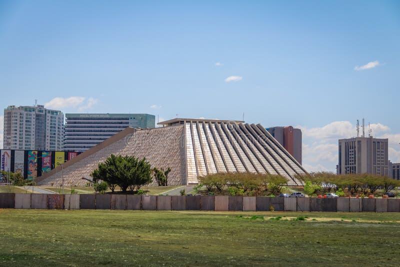 Claudio Santoro Krajowy teatr - Brasilia, Distrito Federacyjny, Brazylia obraz stock