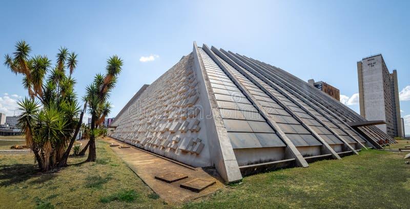 Claudio Santoro Krajowy teatr - Brasilia, Distrito Federacyjny, Brazylia fotografia stock