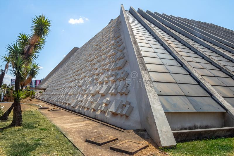 Claudio Santoro Krajowy teatr - Brasilia, Distrito Federacyjny, Brazylia zdjęcie royalty free