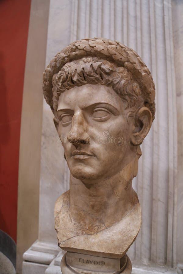 Claudius胸象在梵蒂冈 库存照片