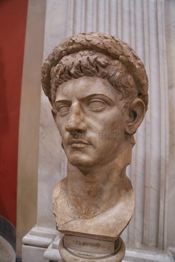 Claudius胸象在梵蒂冈 免版税库存照片