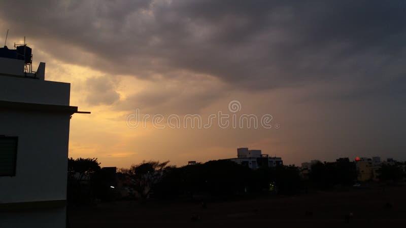 Clauds de lever de soleil images libres de droits
