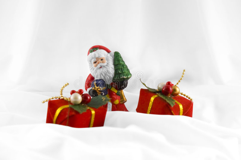 Claus παρουσιάζει το santa στοκ φωτογραφίες με δικαίωμα ελεύθερης χρήσης