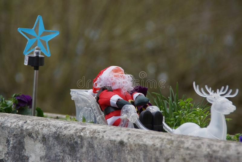 claus его сани santa стоковое фото rf