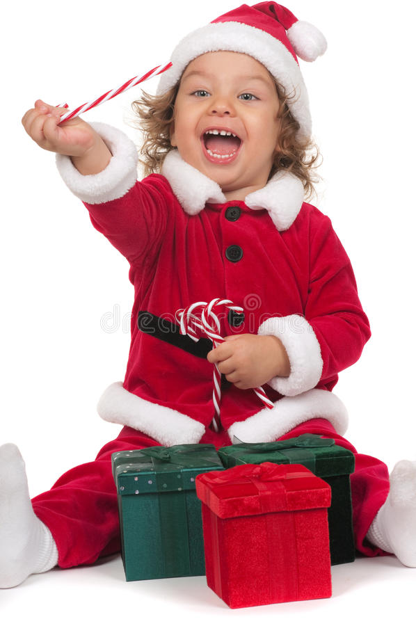 claus маленький santa стоковое изображение rf