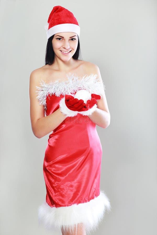 claus одевает женщину santa стоковые фотографии rf