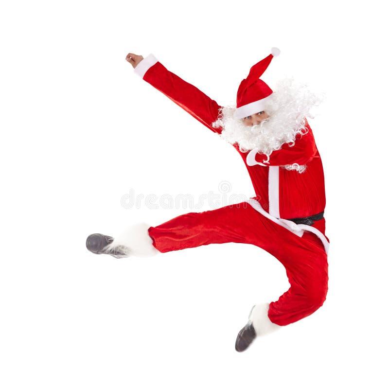 claus скача santa стоковое изображение