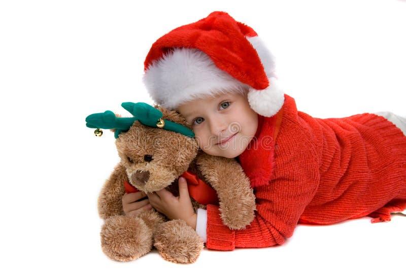 claus dziewczyna Santa obraz stock