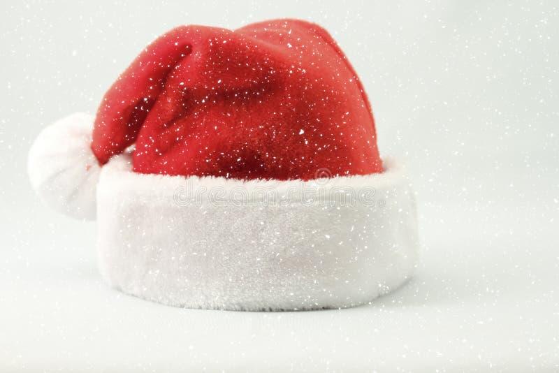 claus hattsanta snow fotografering för bildbyråer