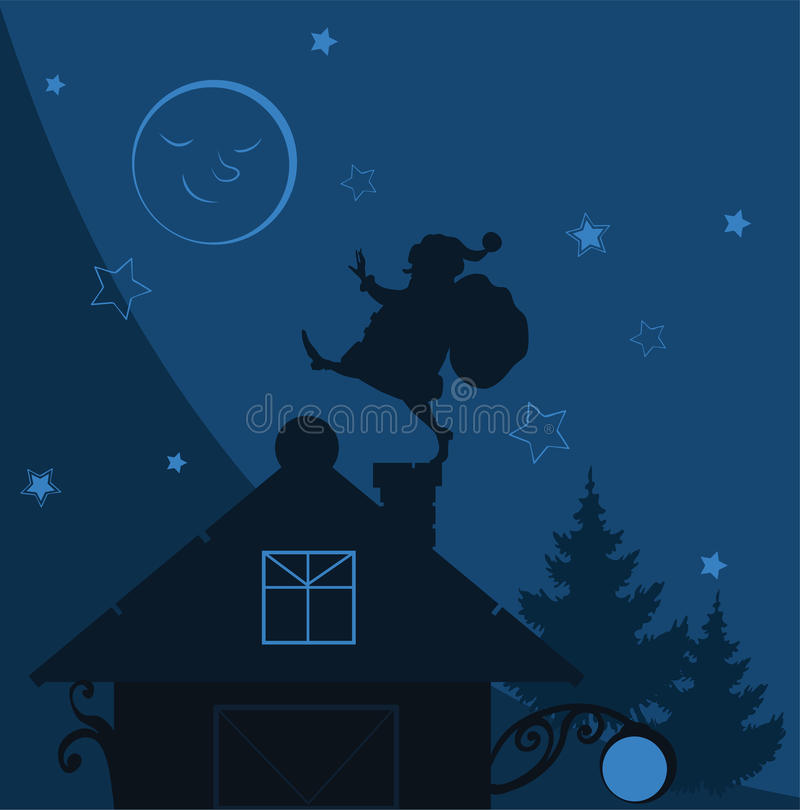 claus ilustraci dachu Santa wektor ilustracji