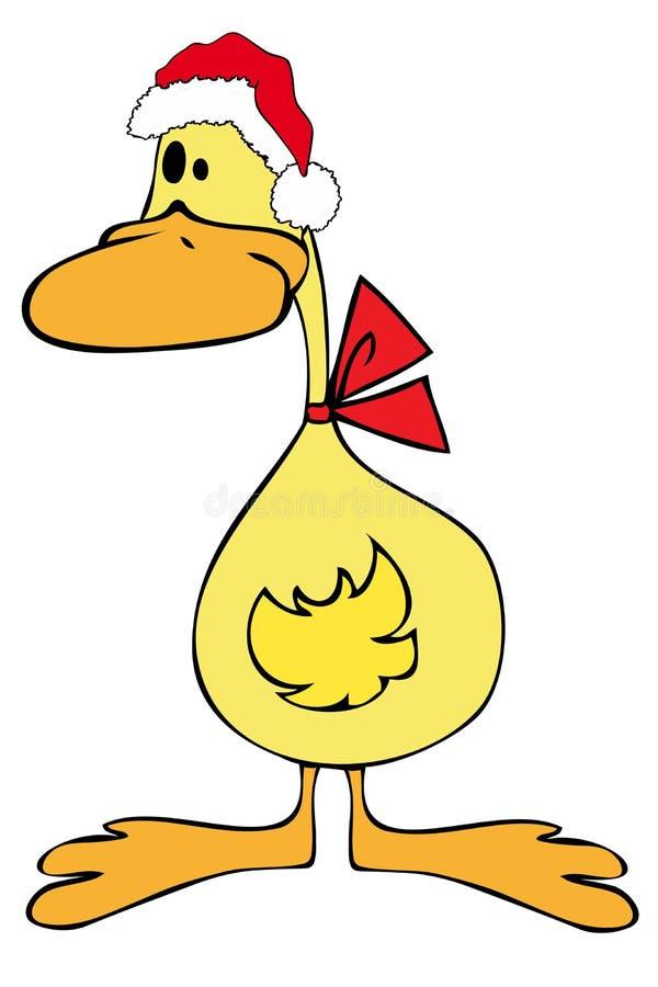 claus kaczki kapelusz Santa ilustracji