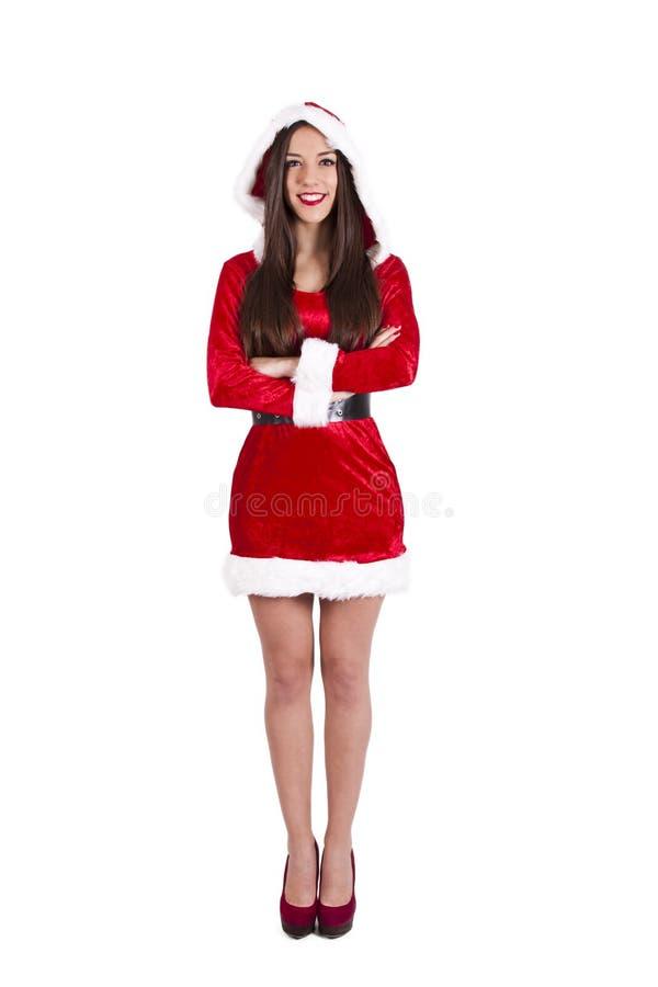 claus kobieta Santa obraz stock
