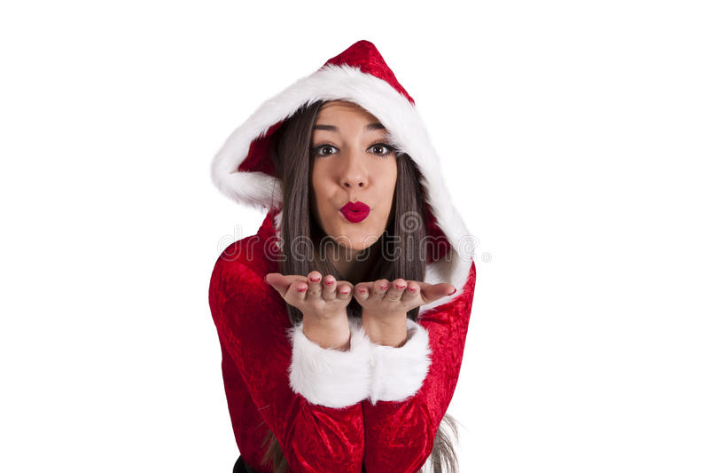claus kobieta Santa fotografia stock