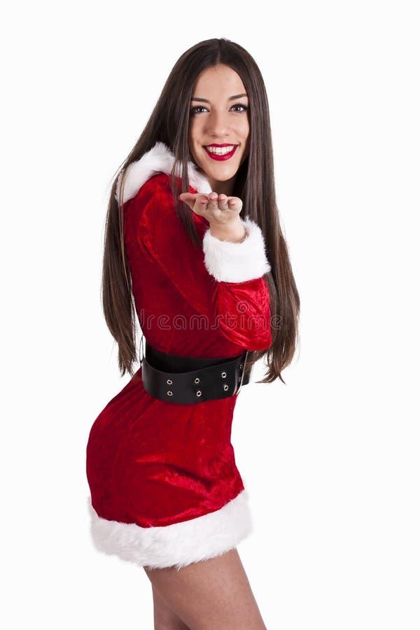 claus kobieta Santa obraz royalty free