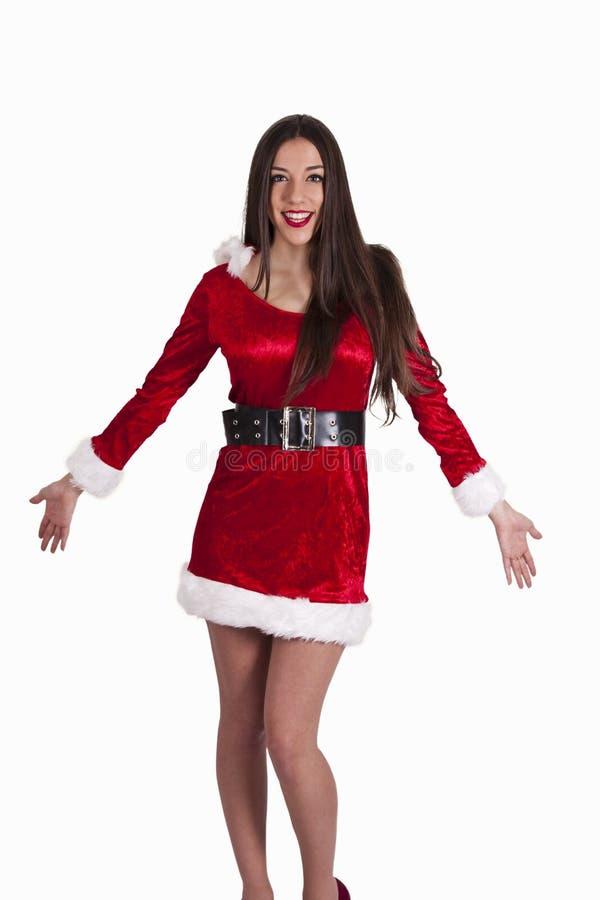 claus kobieta Santa zdjęcie stock