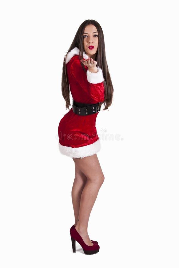 claus kobieta Santa obrazy stock