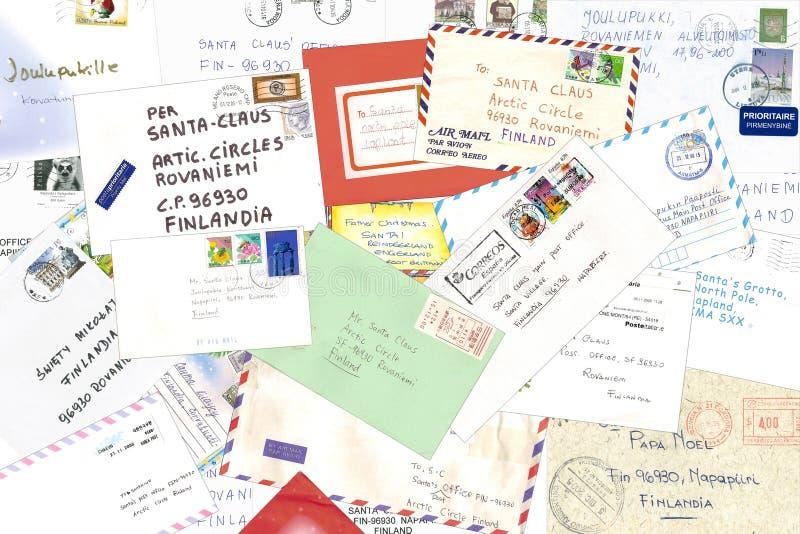 claus letters santa till fotografering för bildbyråer