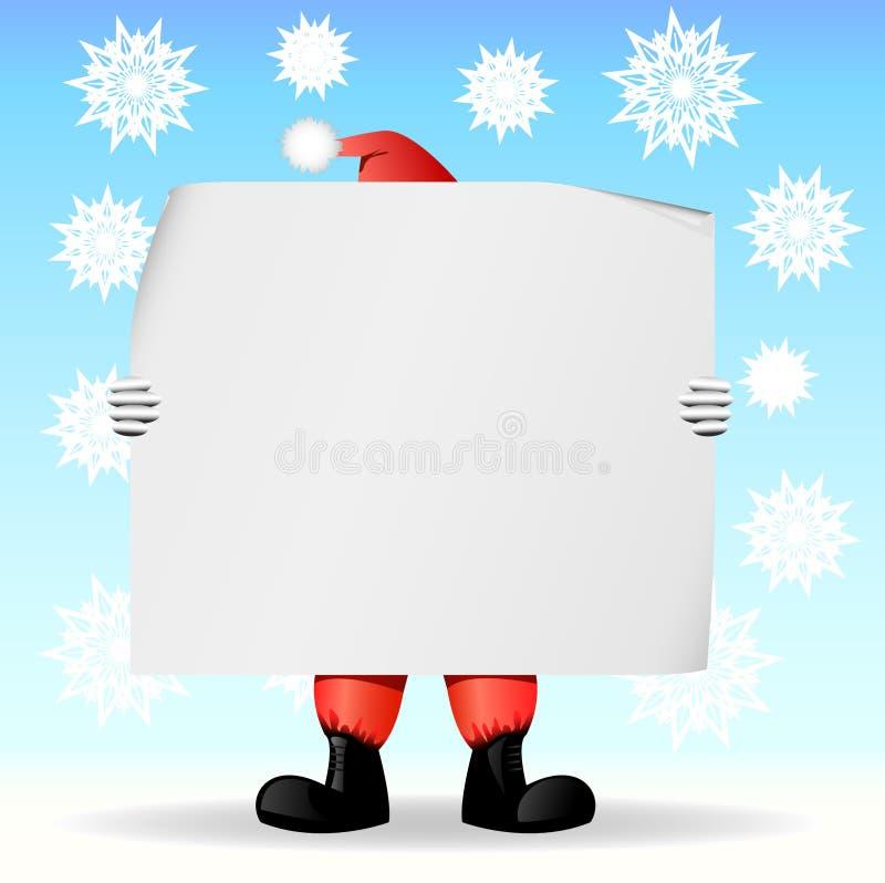 claus mienia papieru Santa prześcieradło royalty ilustracja