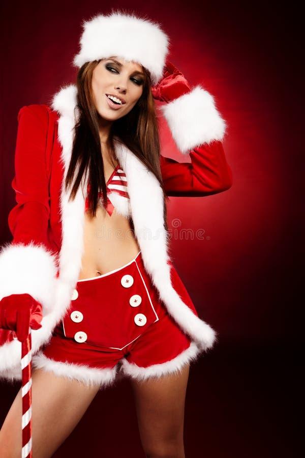 claus odzieżowej dziewczyny Santa seksowny target128_0_ obrazy stock