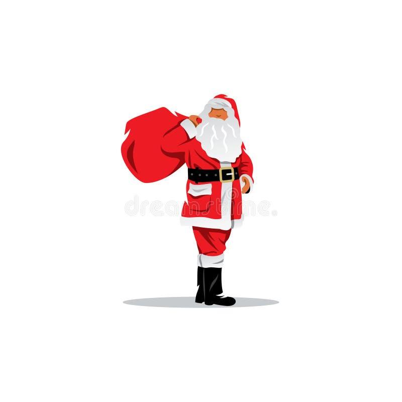 claus prezenty workowy Santa również zwrócić corel ilustracji wektora ilustracji