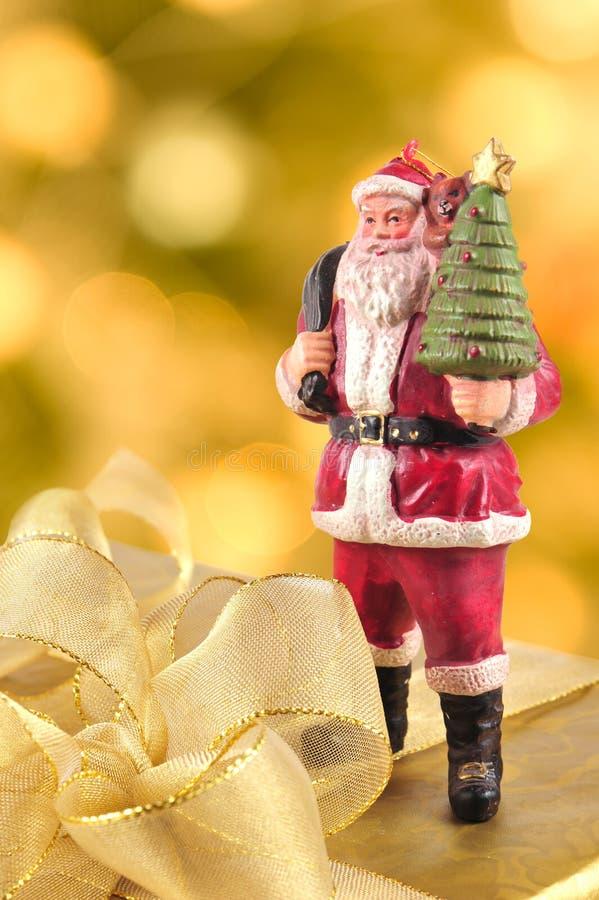 claus pudełkowaty prezent Santa zdjęcia royalty free