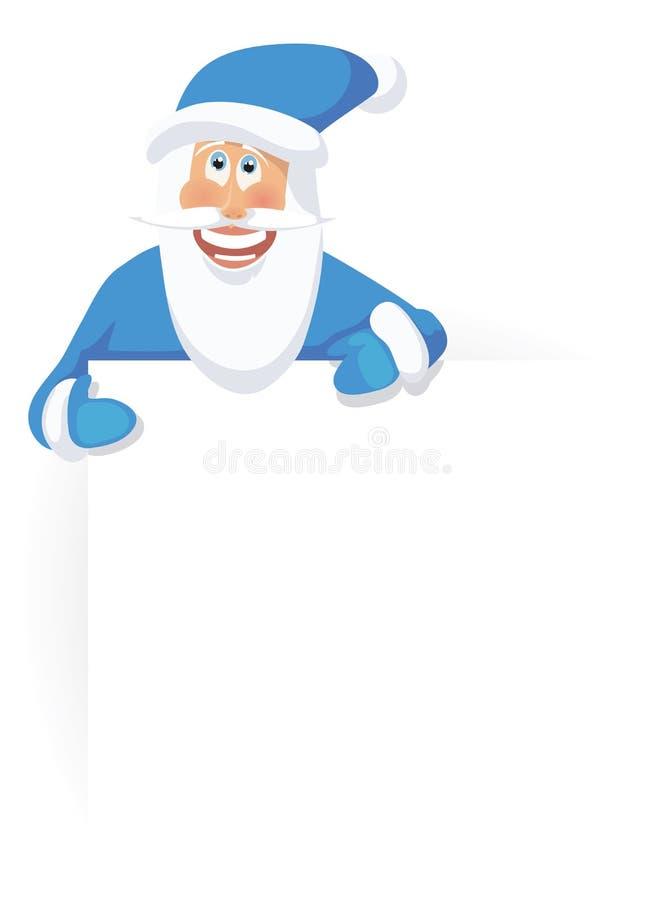 claus santa пеет иллюстрация вектора