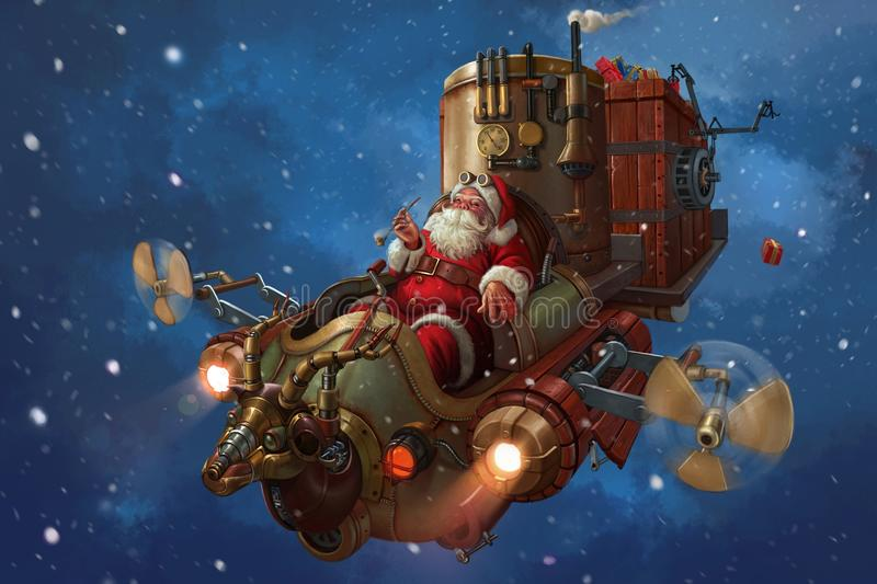 claus santa vektor illustrationer