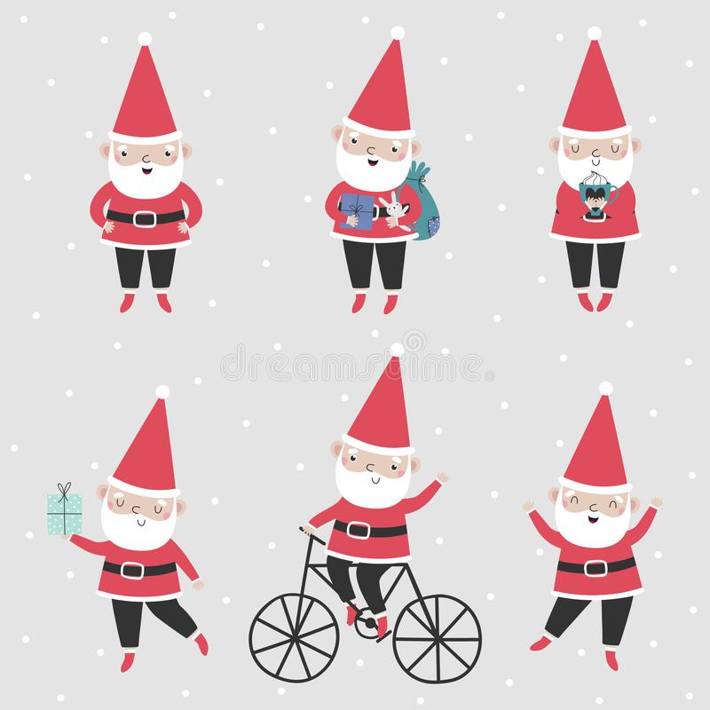claus santa set stock illustrationer