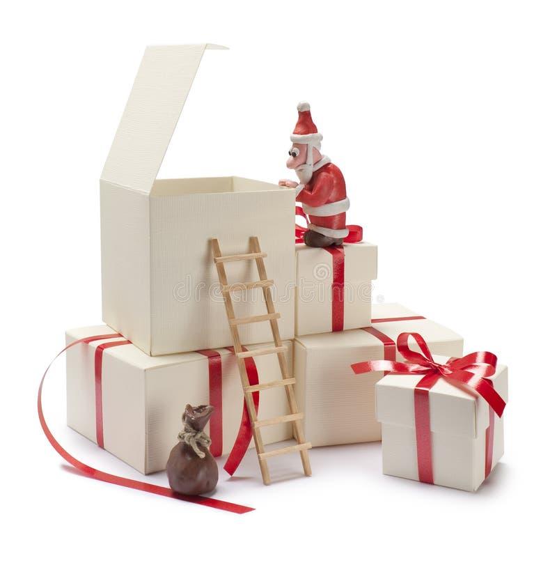 claus santa toy royaltyfri bild
