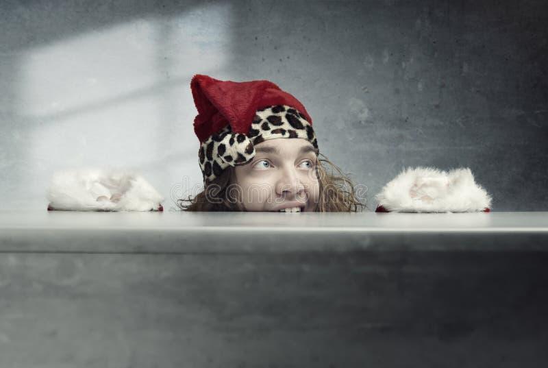 claus szalony Santa obrazy stock