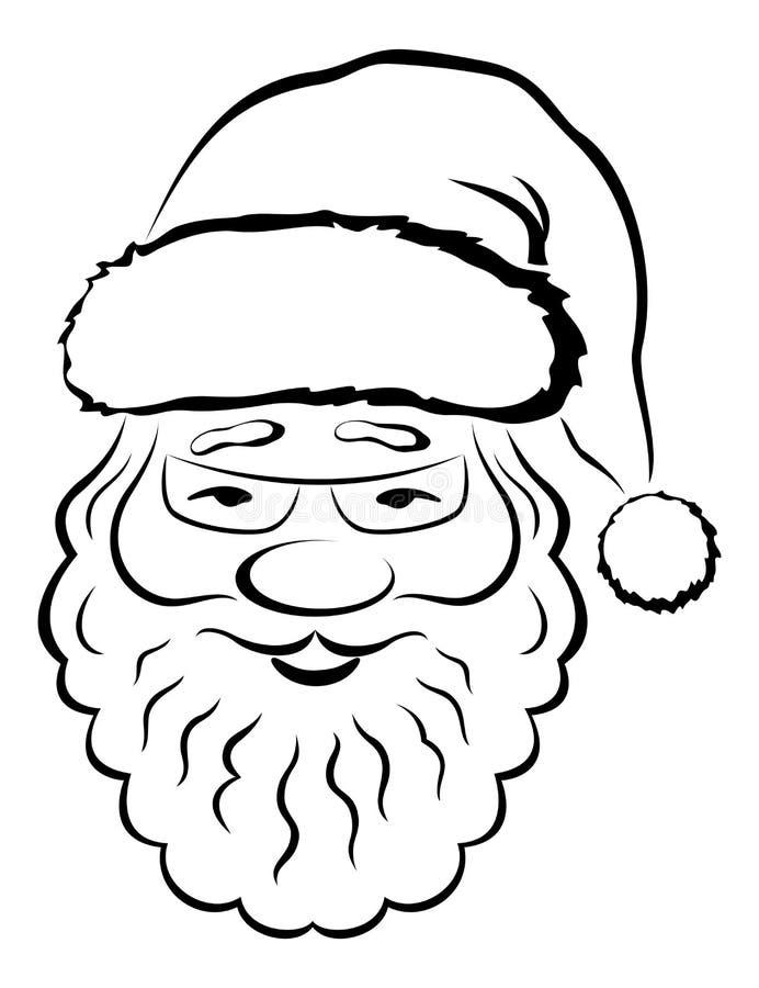claus twarzy piktogram Santa ilustracji