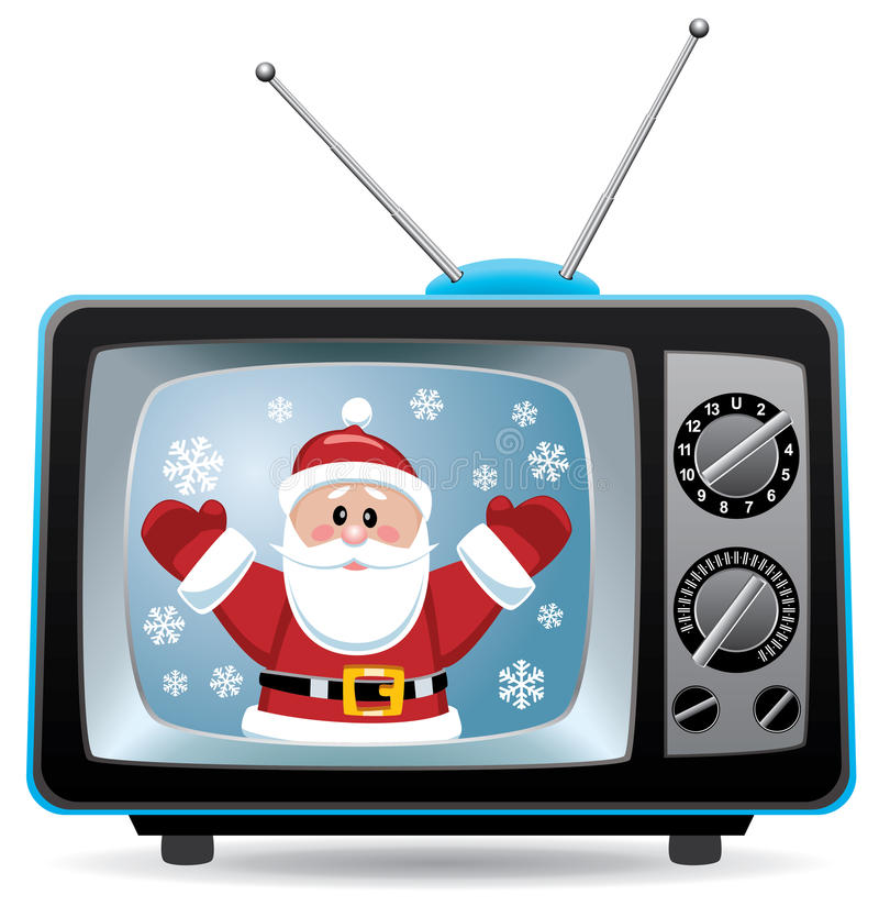 claus wektor retro ustalony Santa tv ilustracja wektor
