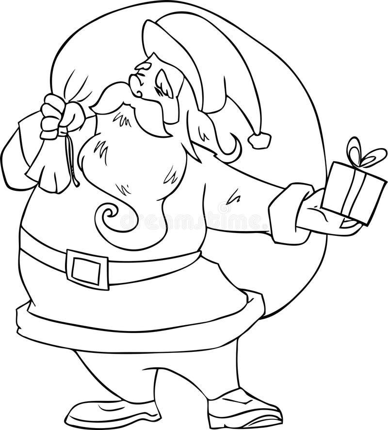 claus wektor Santa royalty ilustracja