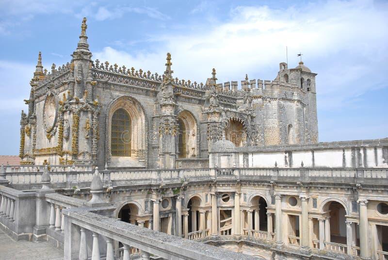 Claustro do convento de Christ imagem de stock