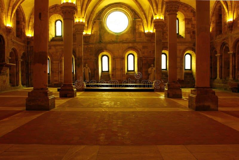 Claustro do monastério de Alcobaca, Alcobaca, Portugal foto de stock royalty free