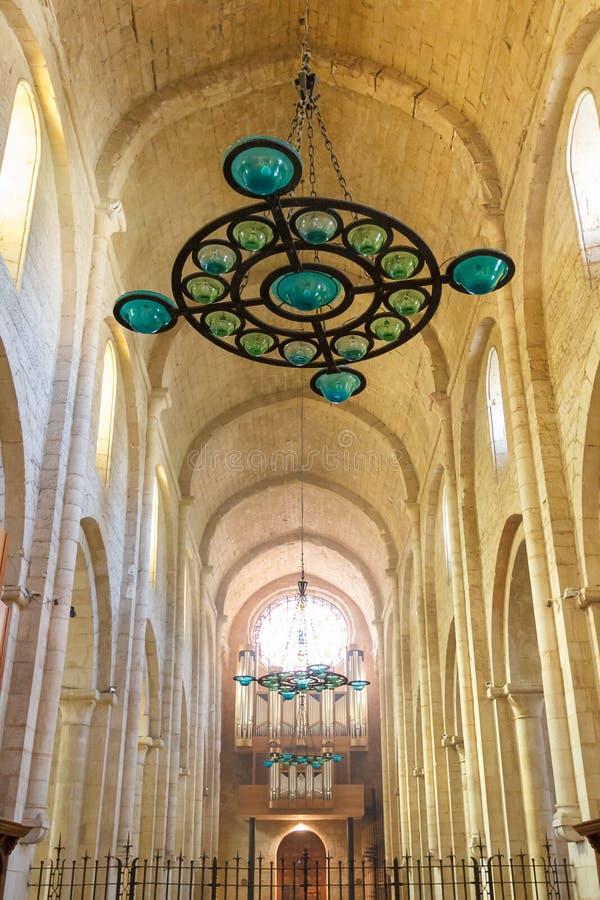 Claustro gótico de Poblet medieval fotografia de stock royalty free