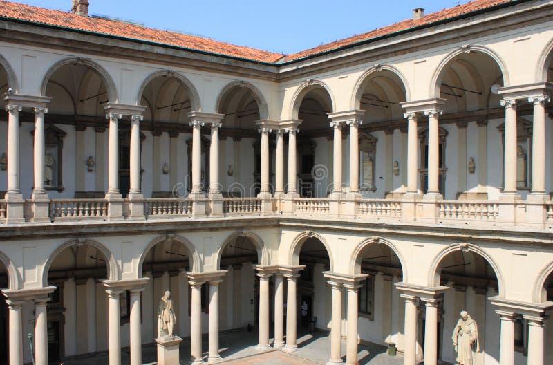 Claustro no palácio de Brera foto de stock royalty free