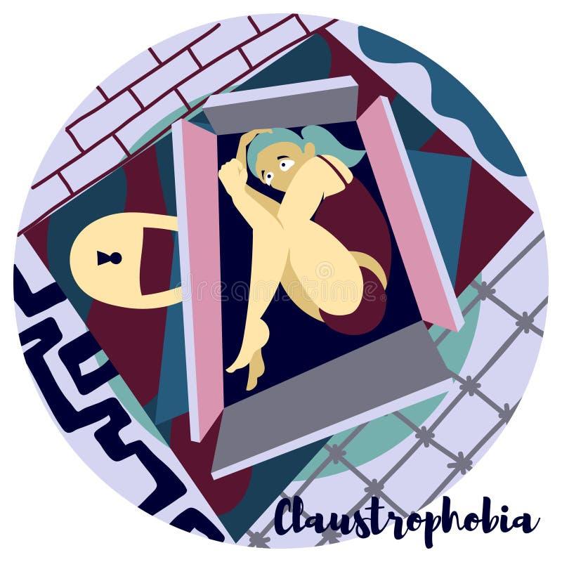 claustrophobia illustrazione vettoriale