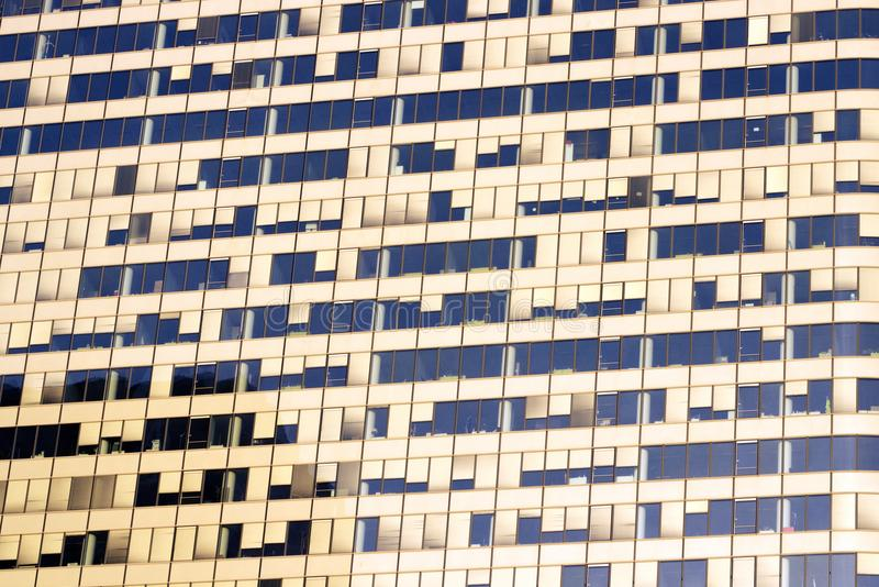 Claustrophobia glass facades business offices skyscraper jobs concentrations. Claustrophobic Architecture Europe`s largest business district, La Défense is stock image