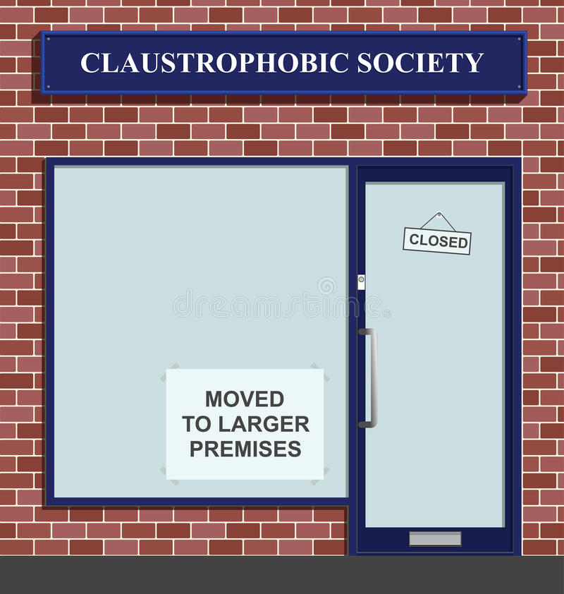 Download Claustrophobic Society stock vector. Image of claustrophobic - 12943676