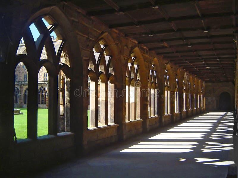 Claustros da catedral de Durham fotografia de stock royalty free