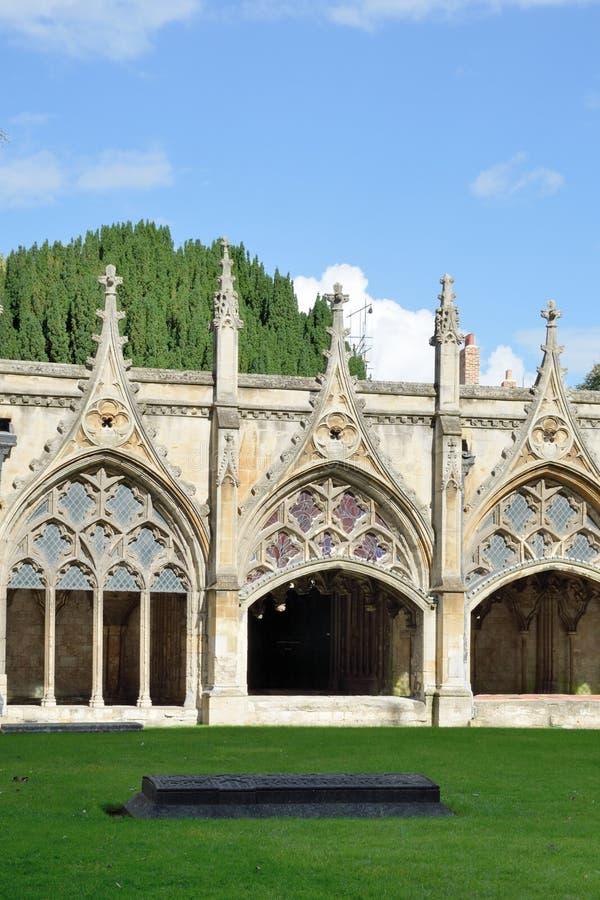 Claustros de la catedral de Cantorbery foto de archivo libre de regalías