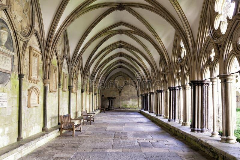 Claustros de la catedral de Salisbury fotografía de archivo libre de regalías
