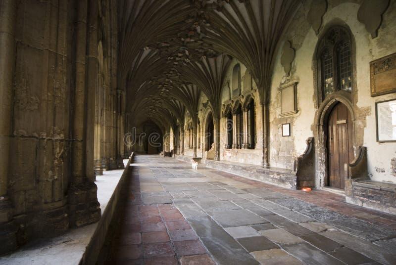 Claustros en la catedral de Cantorbery foto de archivo libre de regalías