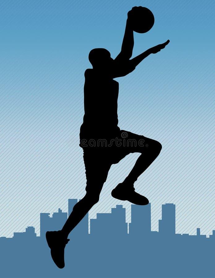 Clavada del baloncesto stock de ilustración