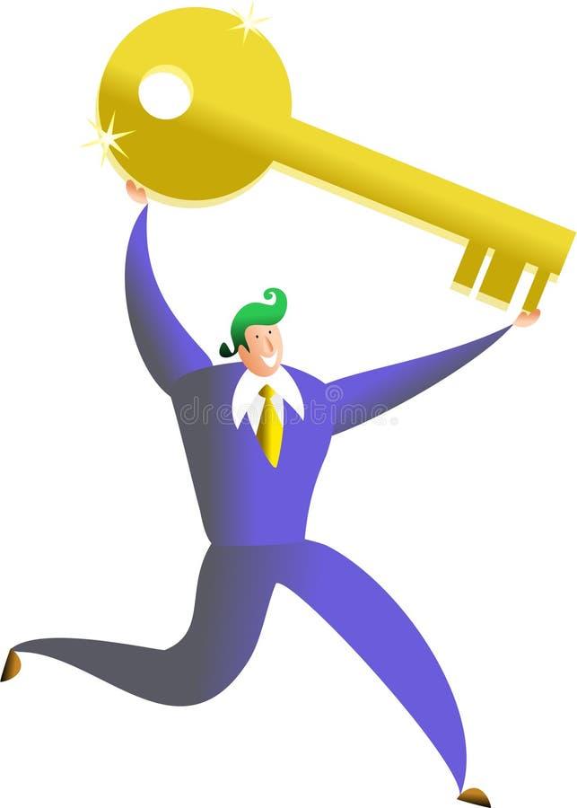 Clave al éxito stock de ilustración