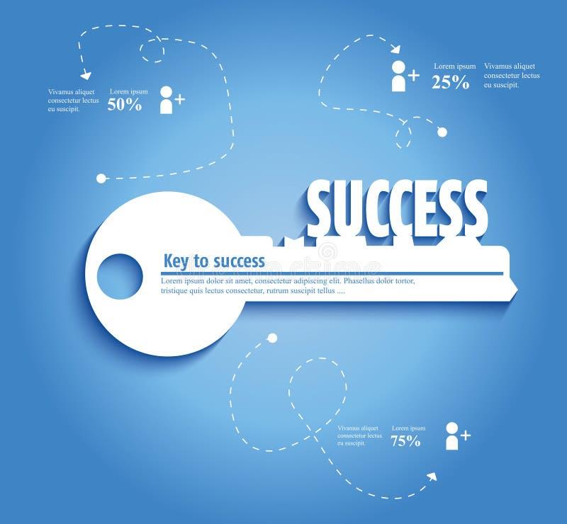 Clave al éxito ilustración del vector